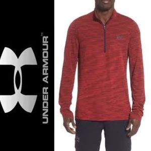 North Face Heathered Red Half Zip Pullover